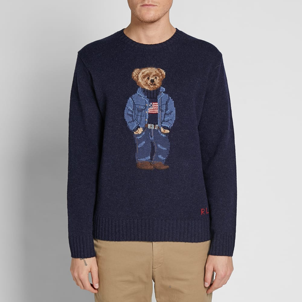8eeb9515fe9 Polo Ralph Lauren Casual Bear Intarsia Knit
