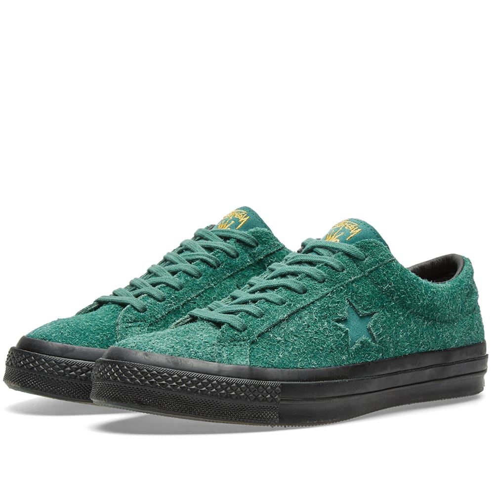 bd0f1508c3a2 Converse x Stussy One Star  74 Hunter Green
