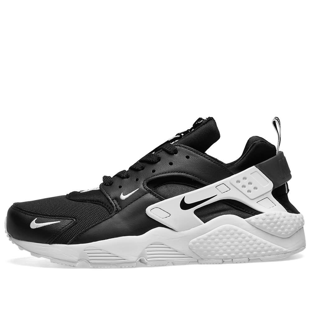 wholesale dealer 69b49 272c4 Nike Air Huarache Run Premium Zip Black   White   END.