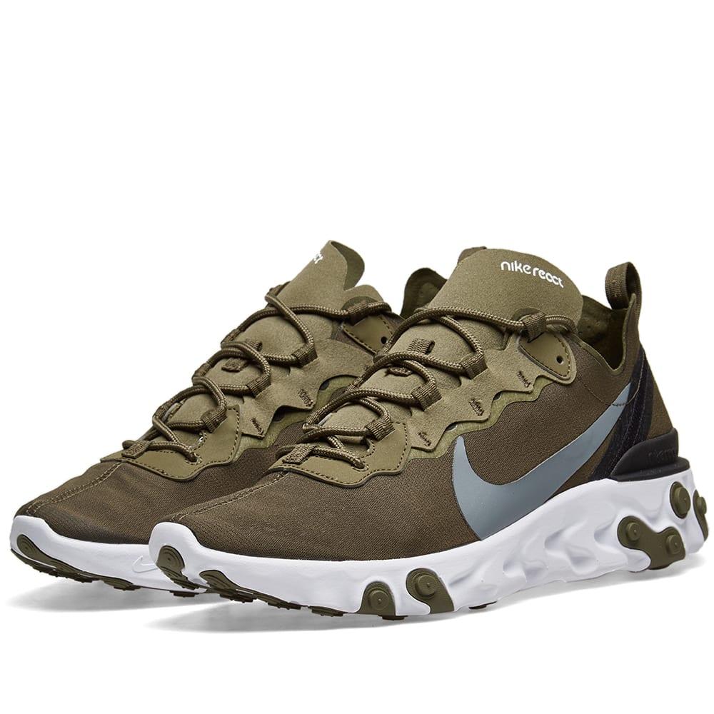 61e7c3a313cf Nike React Element 55 Olive