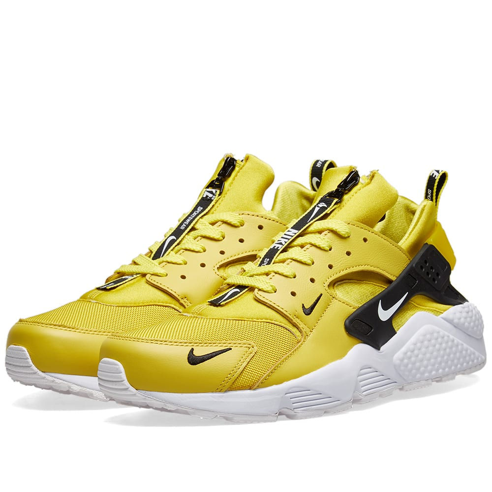 2bba2b650264b Nike Air Huarache Run Premium Zip Citron