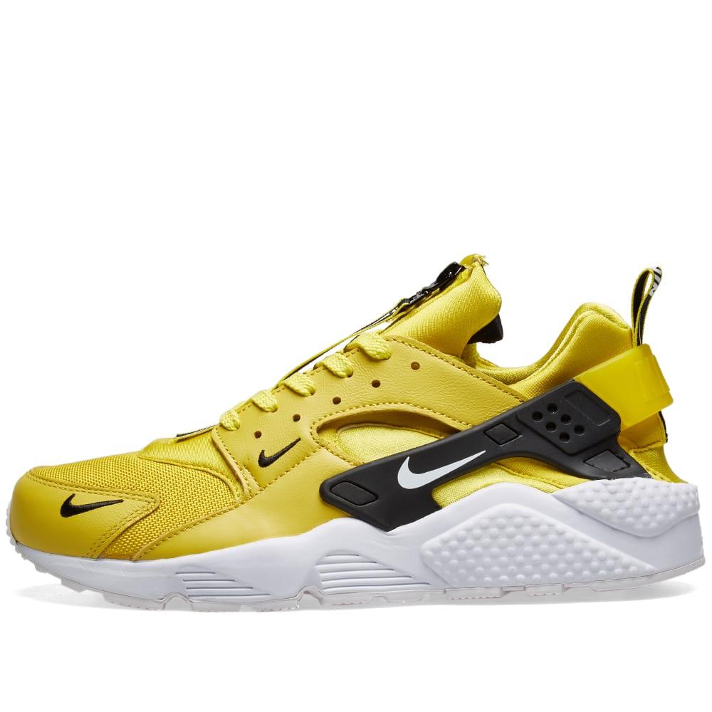 online retailer d80ce bf2d6 Nike Air Huarache Run Premium Zip Citron, White   Black   END.