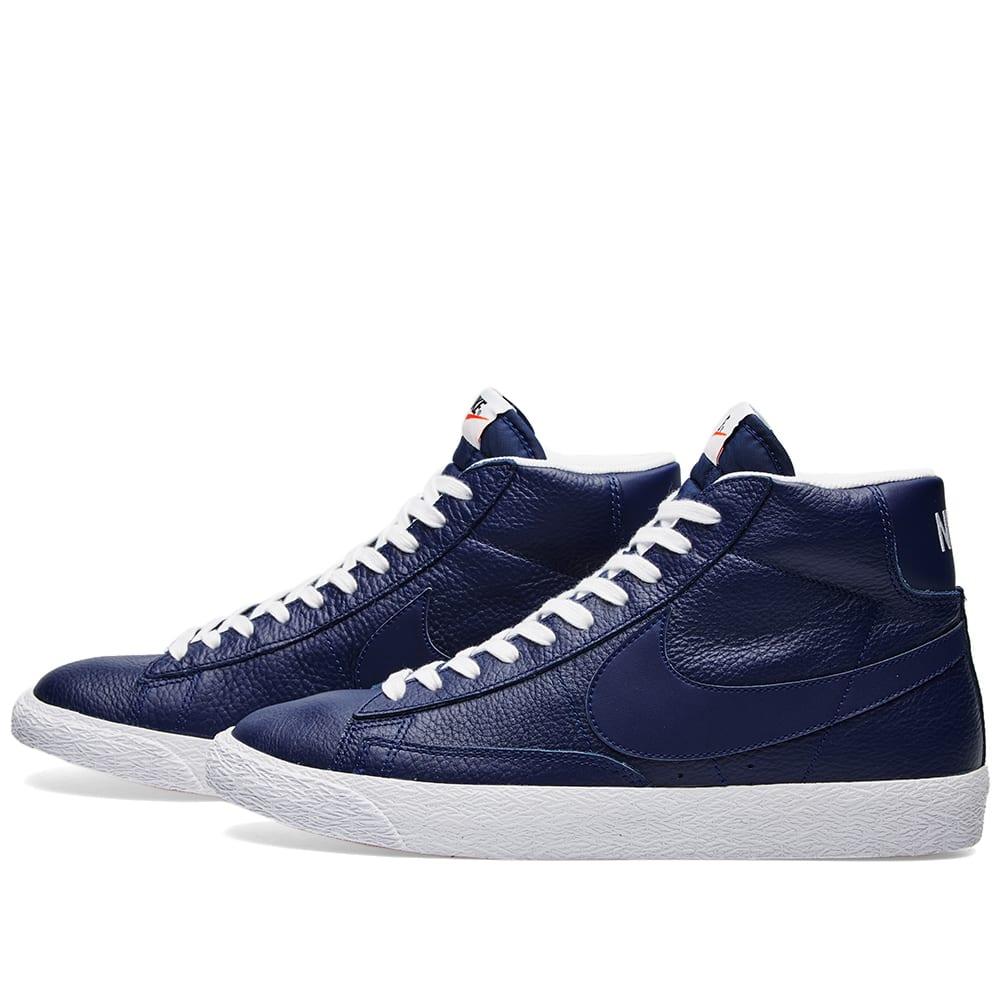 newest 77048 a48ad Nike Blazer Mid Premium Binary Blue   White   END.