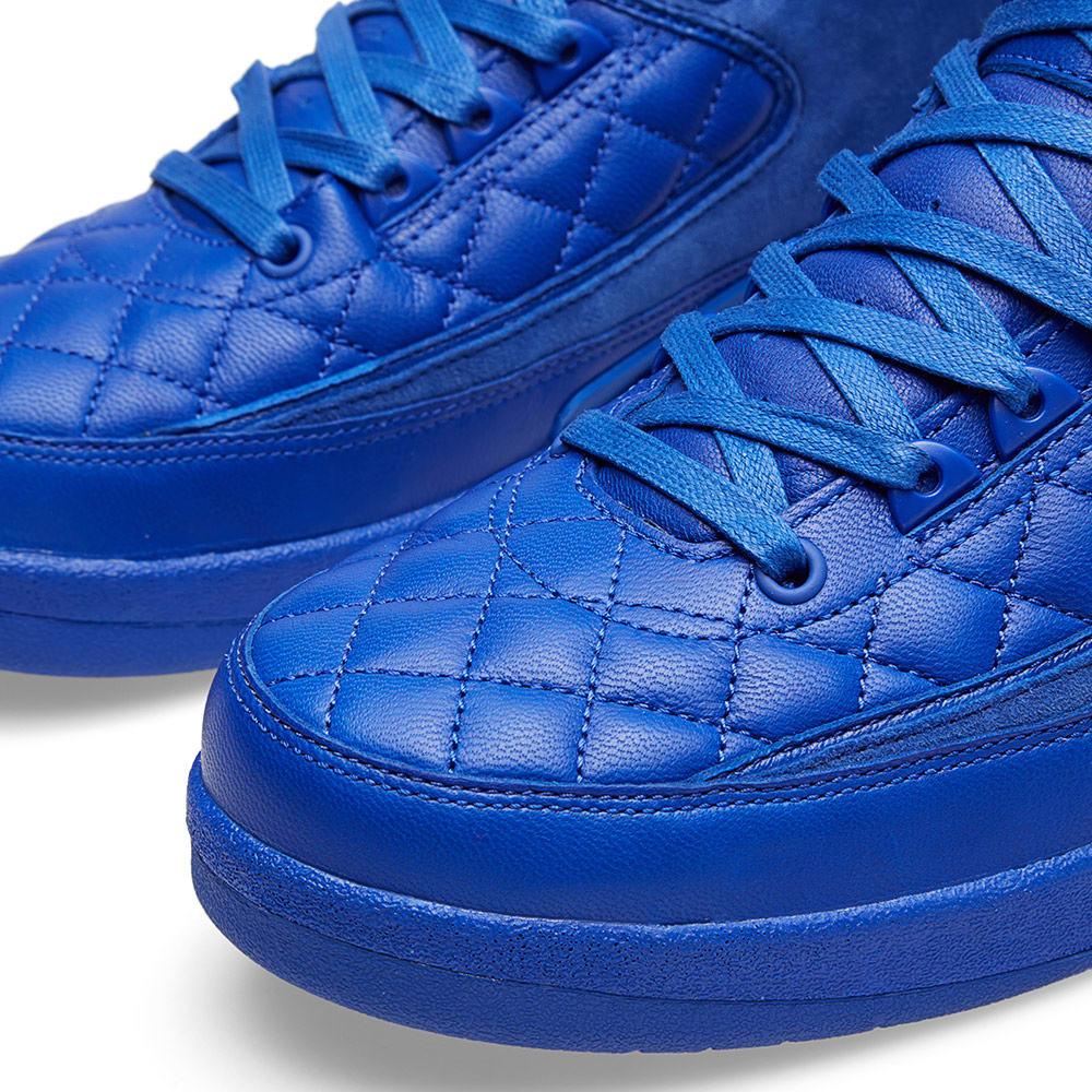 f37c372eeed9 Nike x Just Don Air Jordan II Retro  Quilted  Bright Blue   Metallic Gold