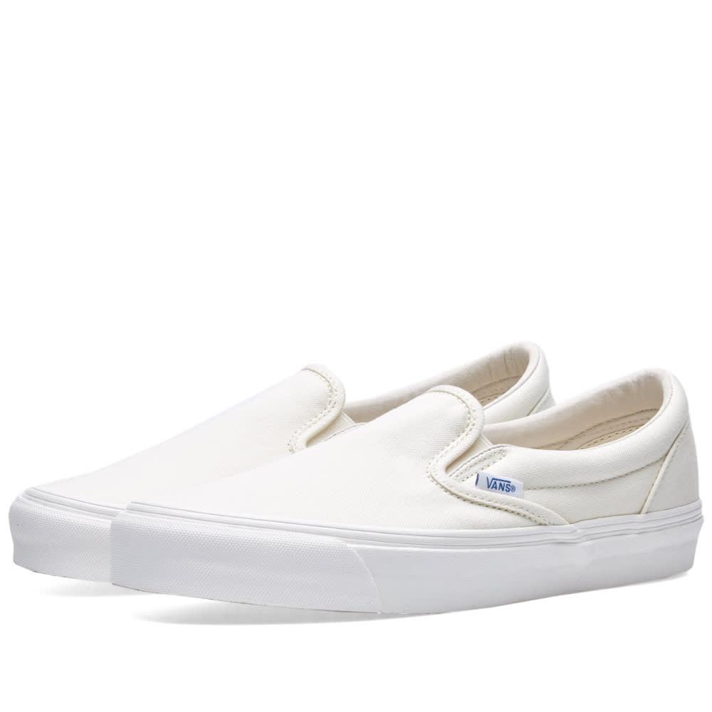 ba1ad363b2 Vans Vault OG Classic Slip On LX Classic White