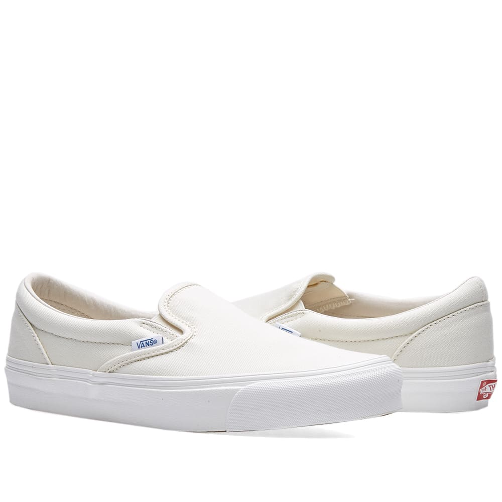 8cd8836b7d Vans Vault OG Classic Slip On LX Classic White