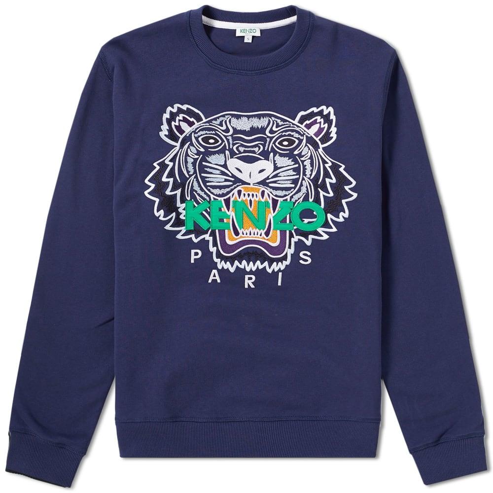 975b3911 KENZO Tiger Face Crew Sweat, Blue | ModeSens