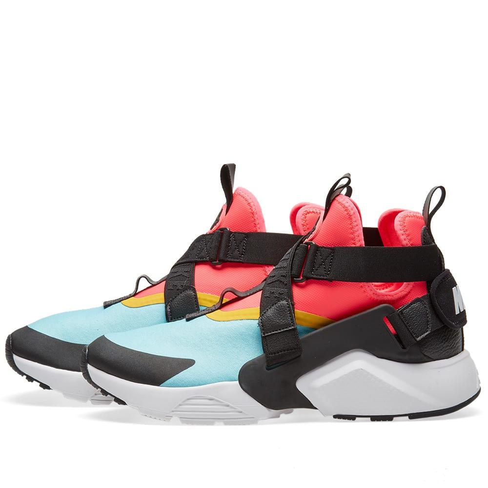 buy online de1e7 e4e76 Nike Air Huarache City W Aqua, Black, Pink   White   END.