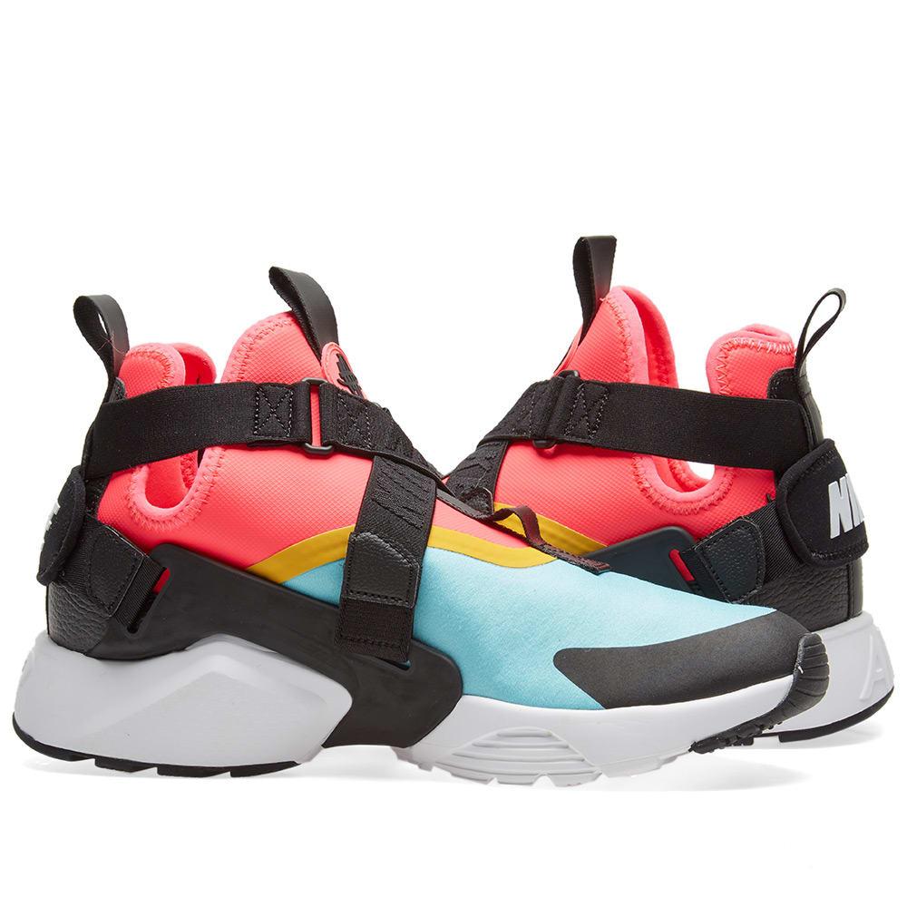 finest selection a1995 ad4ea Nike Air Huarache City W. Aqua, Black, Pink   White