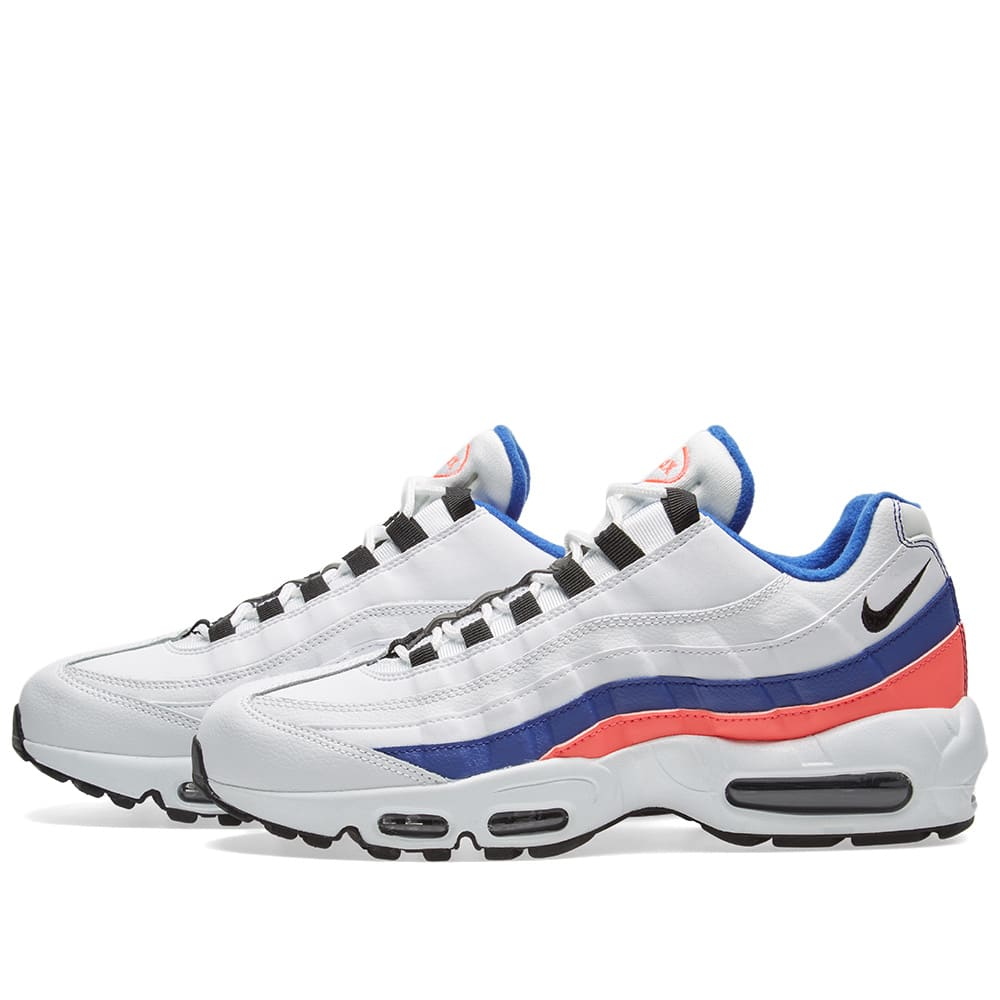 the best attitude 2f5b7 c5ed0 Nike Air Max 95 Essential White, Black, Red   Marine   END.