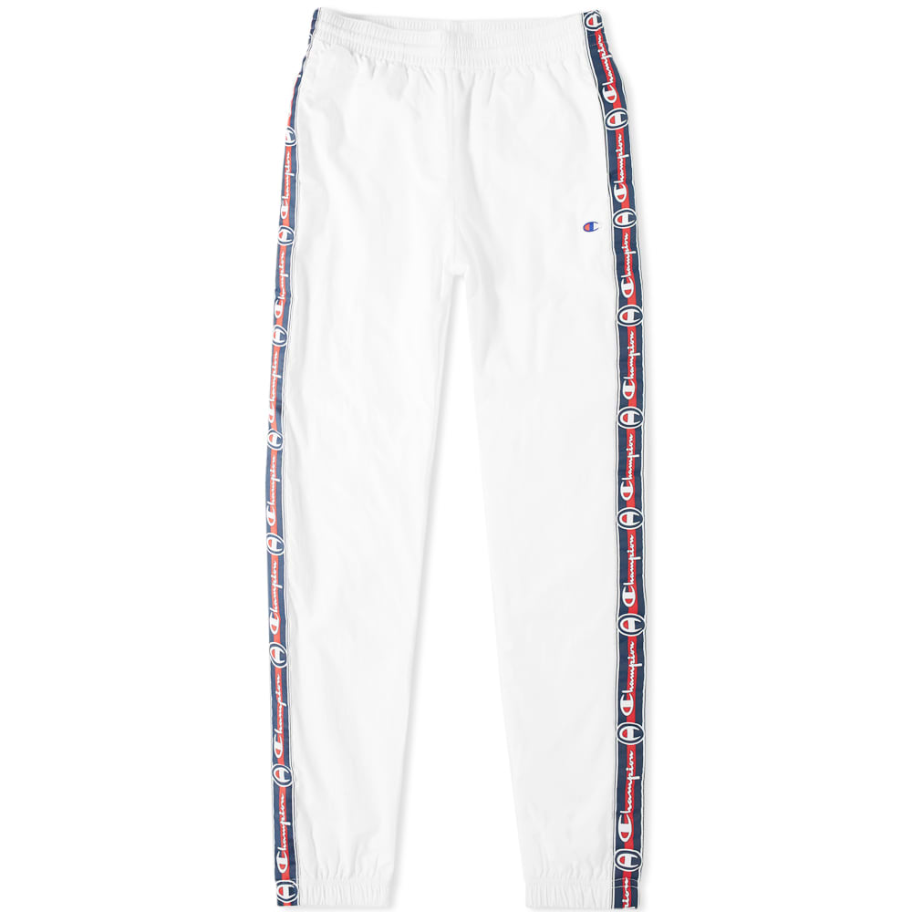f935b099 Champion Reverse Weave Corporate Taped Track Pant White | END.