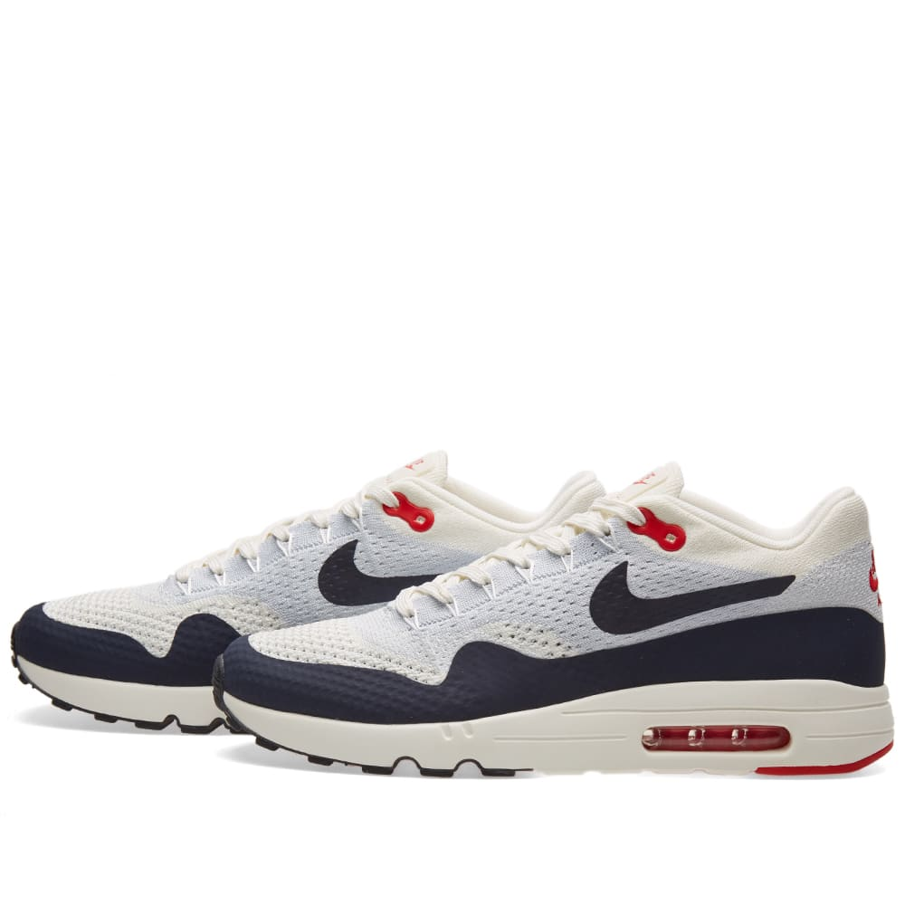 premium selection ca1be b82f9 Nike Air Max 1 Ultra 2.0 Flyknit  U.S.A.  Sail, Obsidian   Wolf Grey   END.