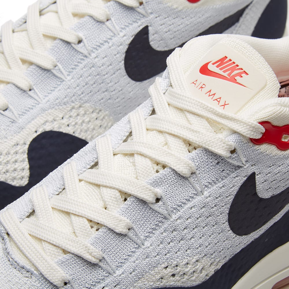 Details about Nike Air Max 1 Ultra 2.0 Flyknit Sail Obsidian Wolf Grey Size UK 8 OG Retro