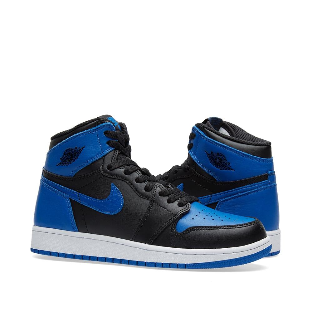 c079627484ca87 Nike Air Jordan 1 Retro Hi OG BG Black