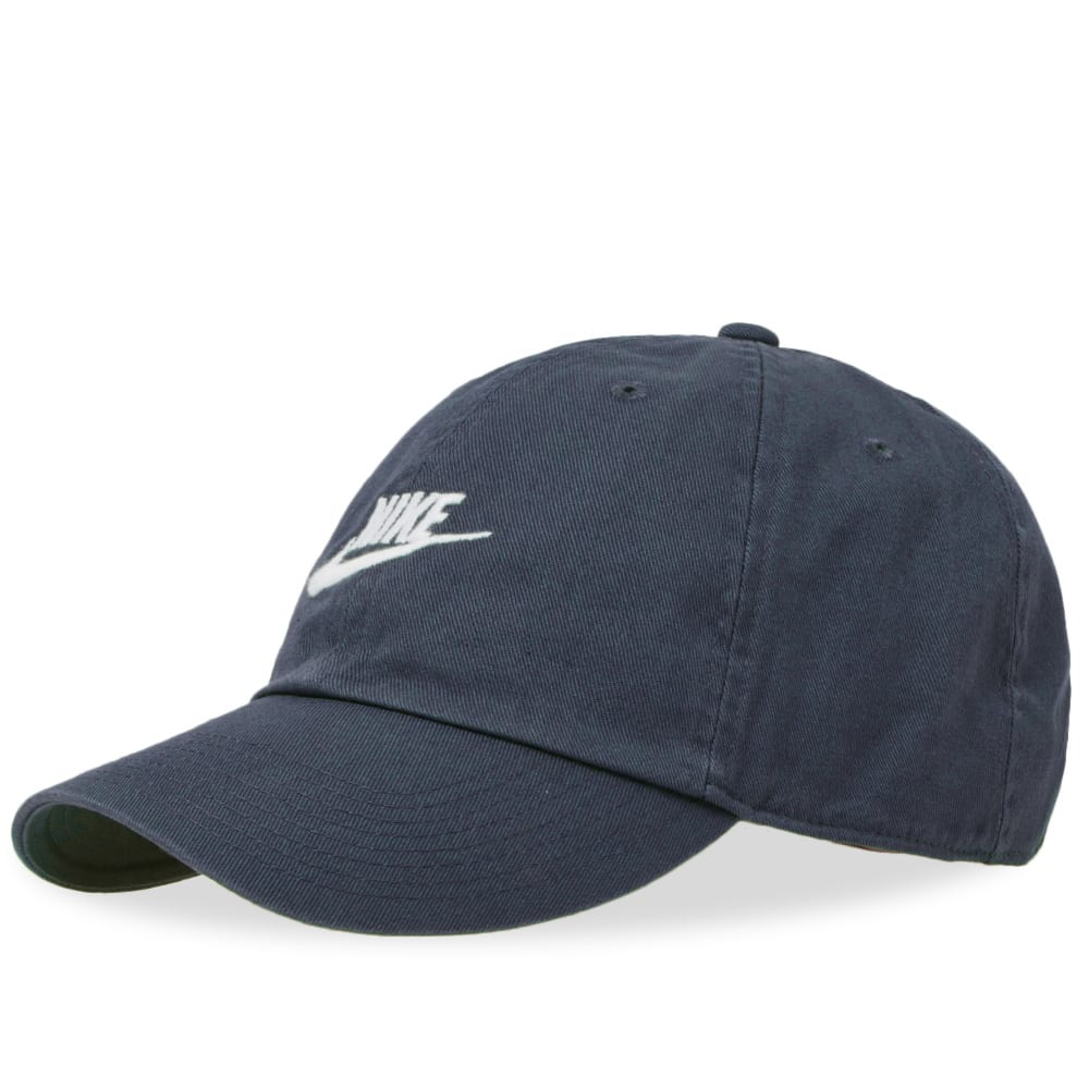 online store 85ac9 43a77 Nike Futura Washed H86 Cap. Obsidian   White
