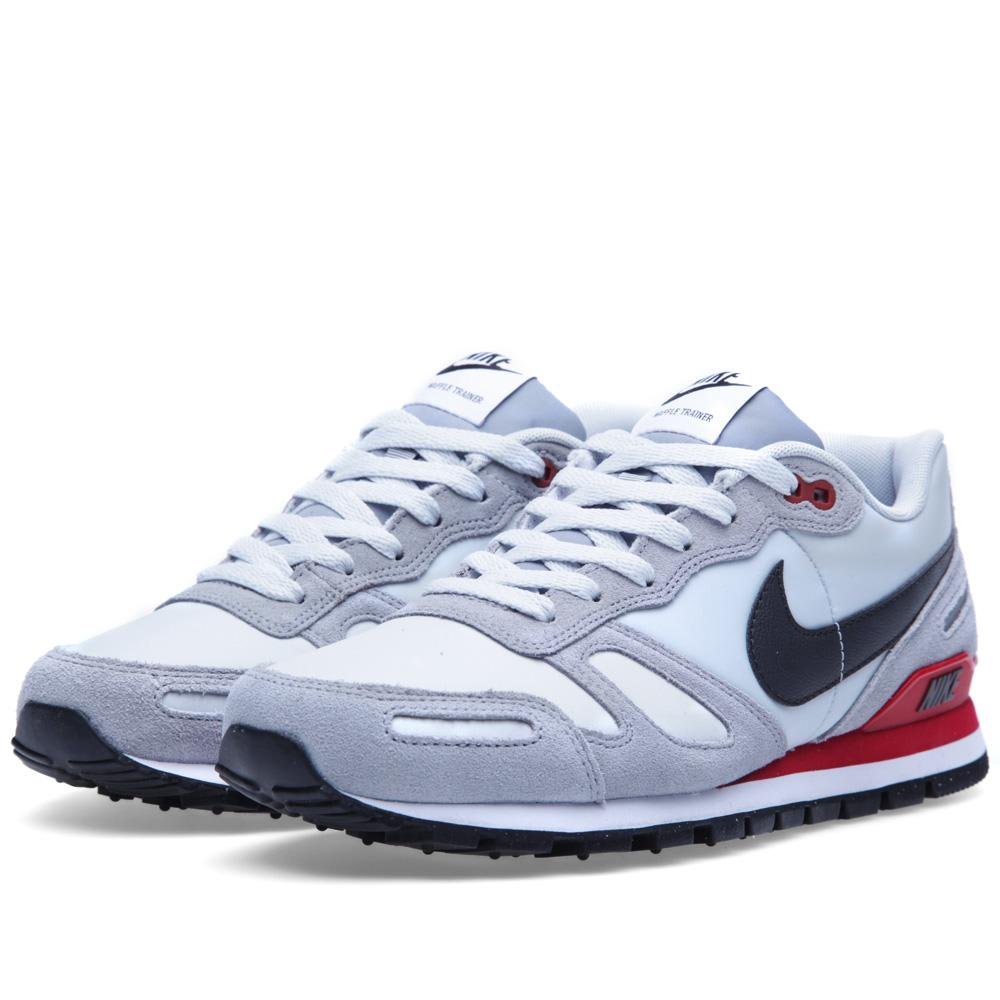 nike air waffle trainer pure platinum night stadium. Black Bedroom Furniture Sets. Home Design Ideas