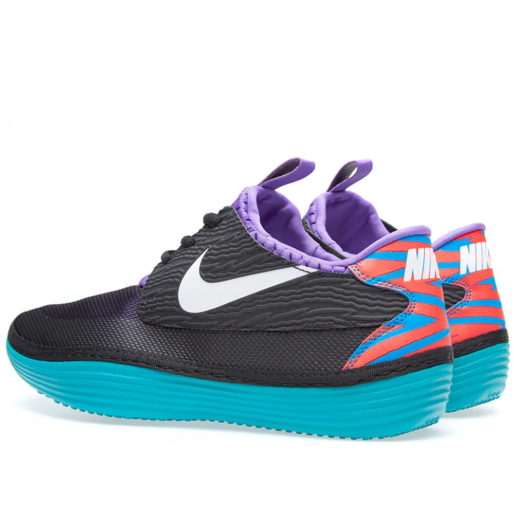 huge selection of ad326 6e5a7 Nike Solarsoft Moccasin Black, White   Tribe Green   END.