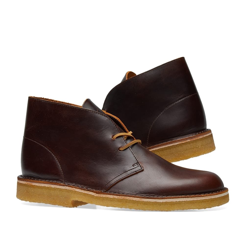 condón cocina manguera  Clarks Originals Desert Boot - Made in Italy Chestnut Leather | END.