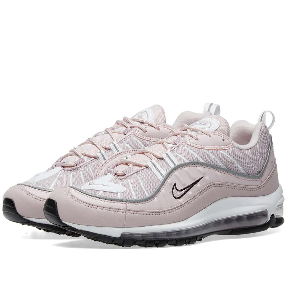 Air Max 98 Leather, Suede And Mesh Sneakers, Pink