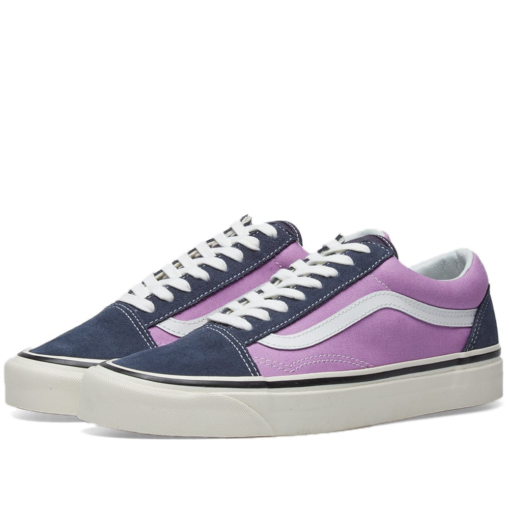 Vans Anaheim Old Skool Sneakers In Og Navy And Lilac