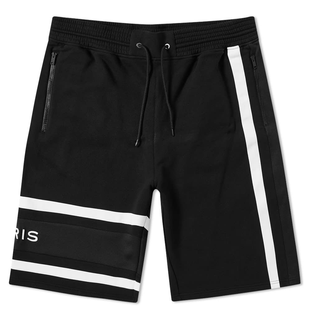95b50bfdc8c28f GIVENCHY | Givenchy Band Logo Sweat Shorts Black & White | Goxip