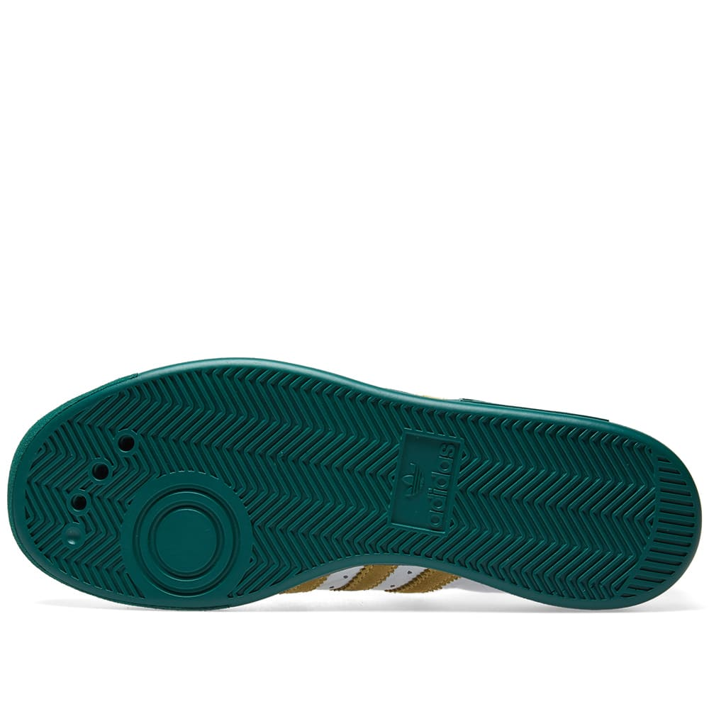huge discount 3c57b 94b2e Adidas Forest Hills White, Metallic Gold   Green   END.
