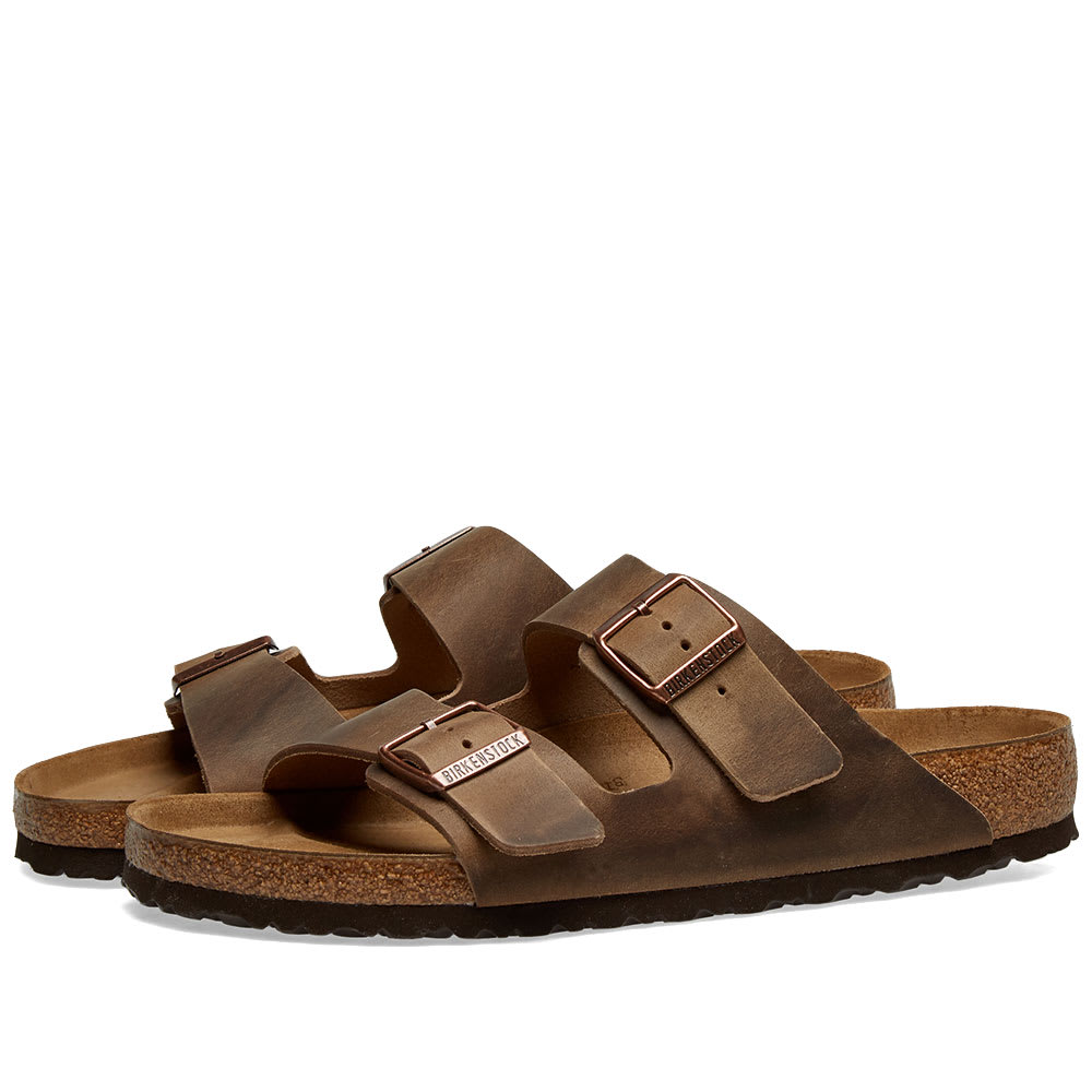 official images pretty nice for whole family Birkenstock Arizona Tobacco Brown Oiled Leather | END.