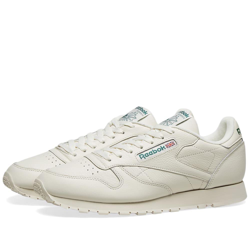 reebok classic leather white green - 65