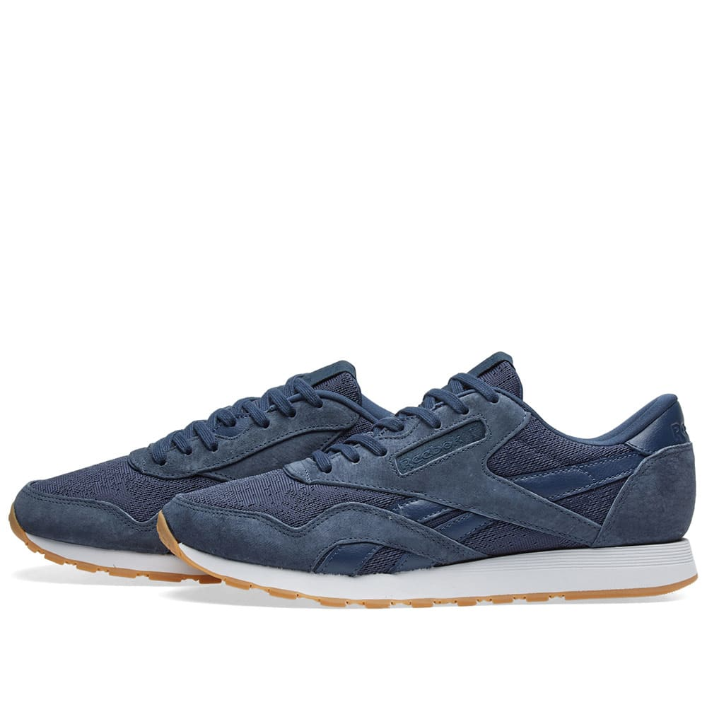 reebok classic nylon hs smoky indigo white gum. Black Bedroom Furniture Sets. Home Design Ideas