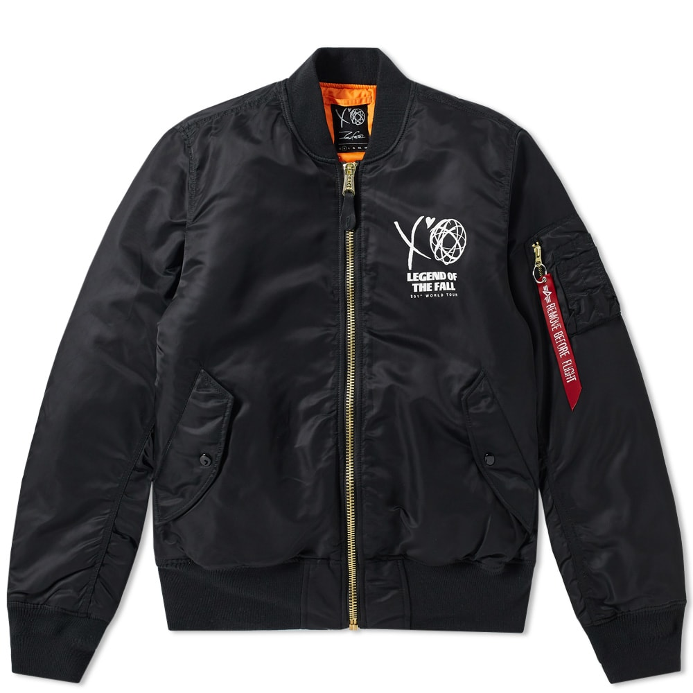 reputable site matching in colour 100% genuine The Weeknd x Futura XO Cross Bomber Jacket