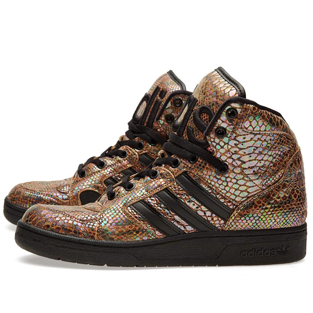 outlet store 9da94 587c6 Adidas ObyO x Jeremy Scott Instinct Hi Rainbow Black   END.
