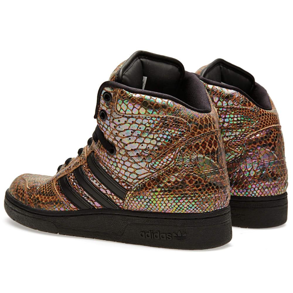 undefeated x autumn shoes cheaper Adidas ObyO x Jeremy Scott Instinct Hi Rainbow Black | END.