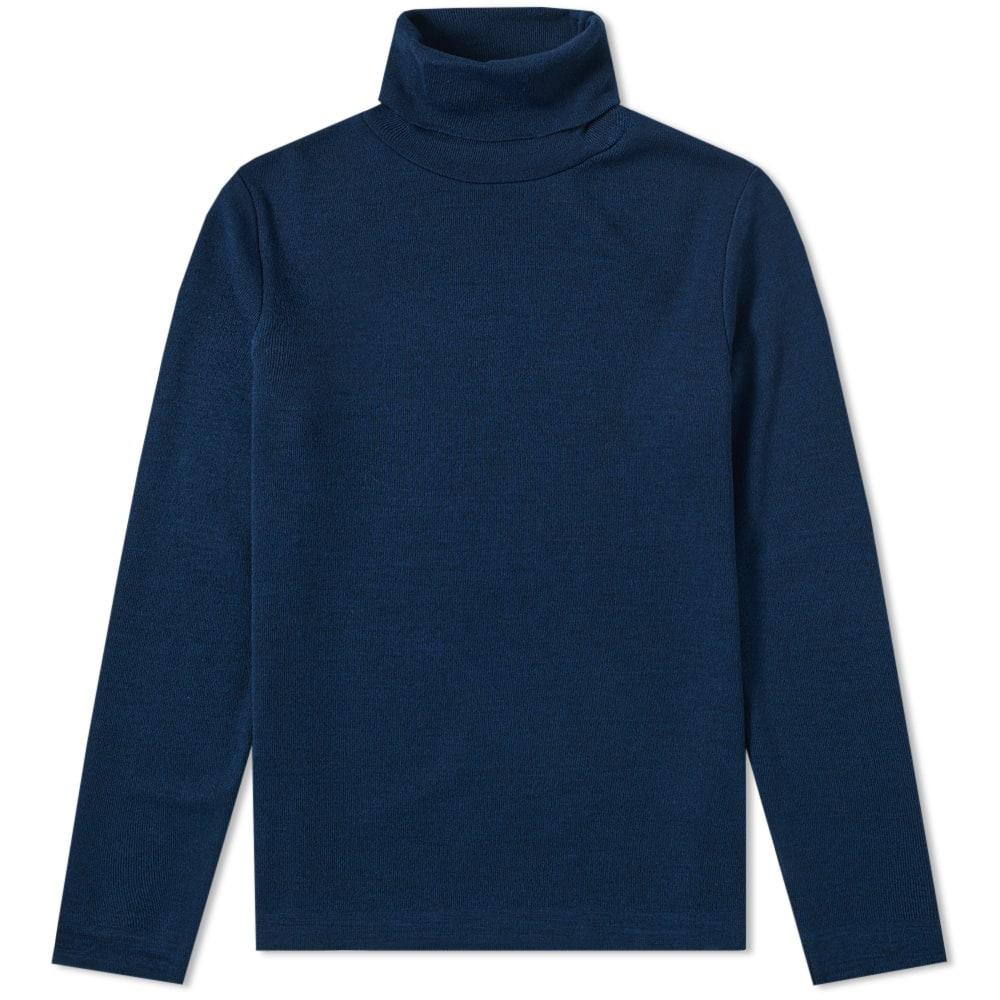 BLEU DE PANAME Bleu De Paname Cousteau Roll Neck Knit in Blue