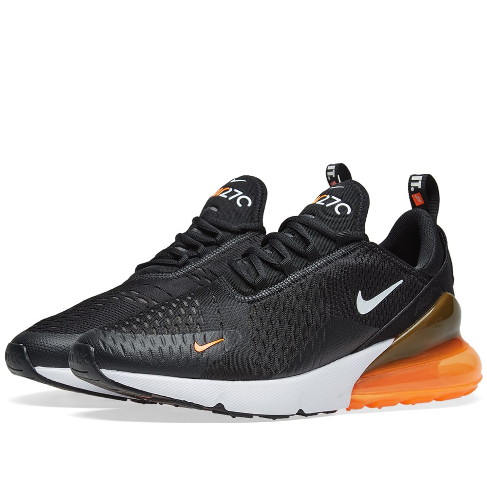 Nike Air Max 270 Black White Orange End