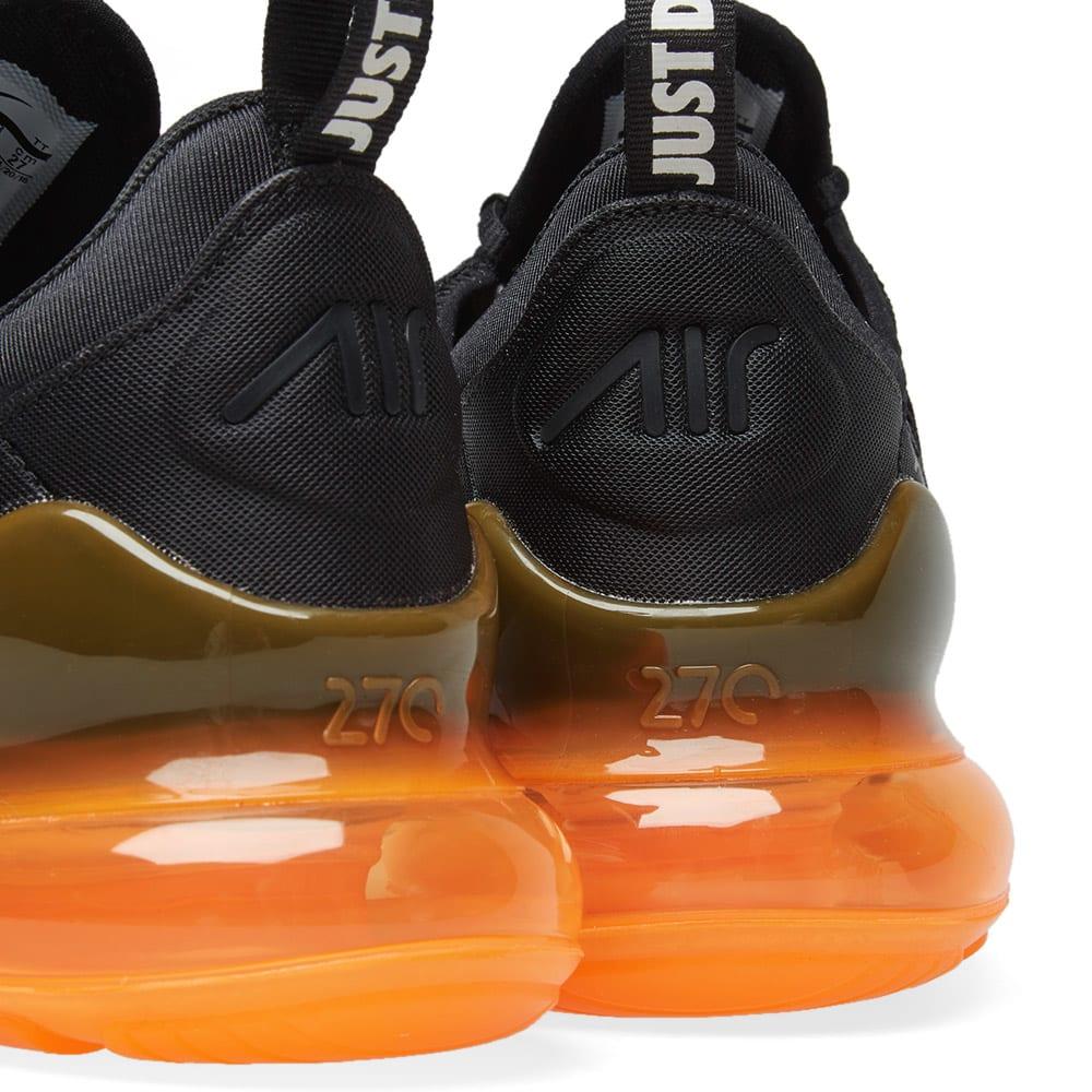 best loved 46370 4e36f Nike Air Max 270 Black, White   Orange   END.