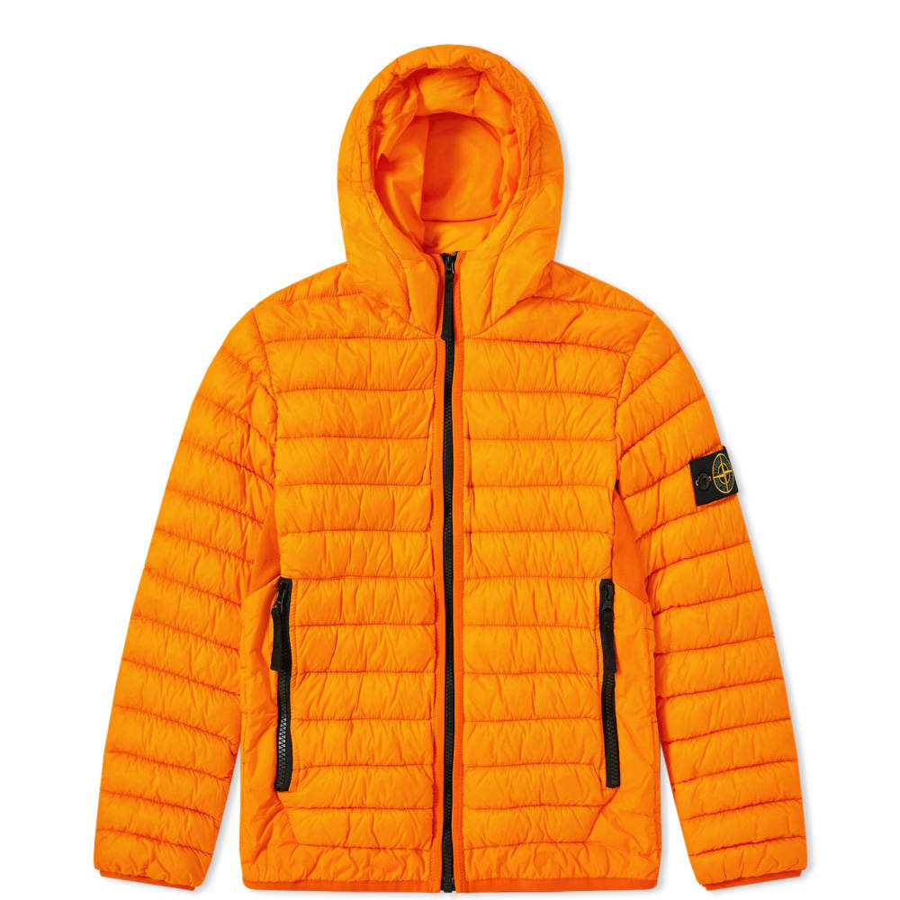 newest collection dbc1b d2583 Stone Island Junior Light Down Filled Crinkle Reps Hooded Jacket
