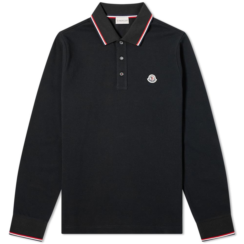 Moncler Classic Long Sleeve Polo