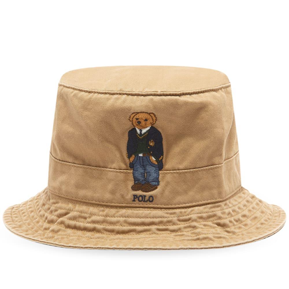 3e7b2b429 Polo Ralph Lauren Bear Embroidery Bucket Hat