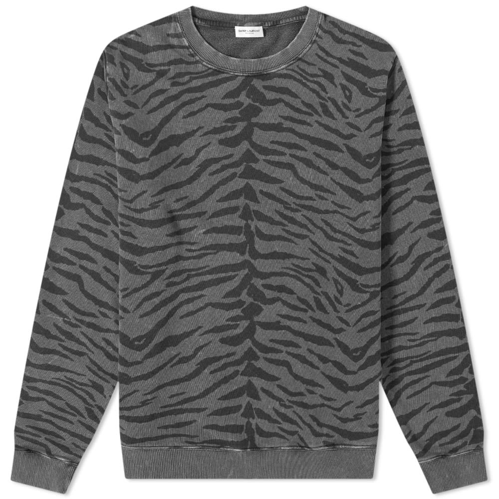 0ff07edae7 Saint Laurent Zebra Print Crew Sweat