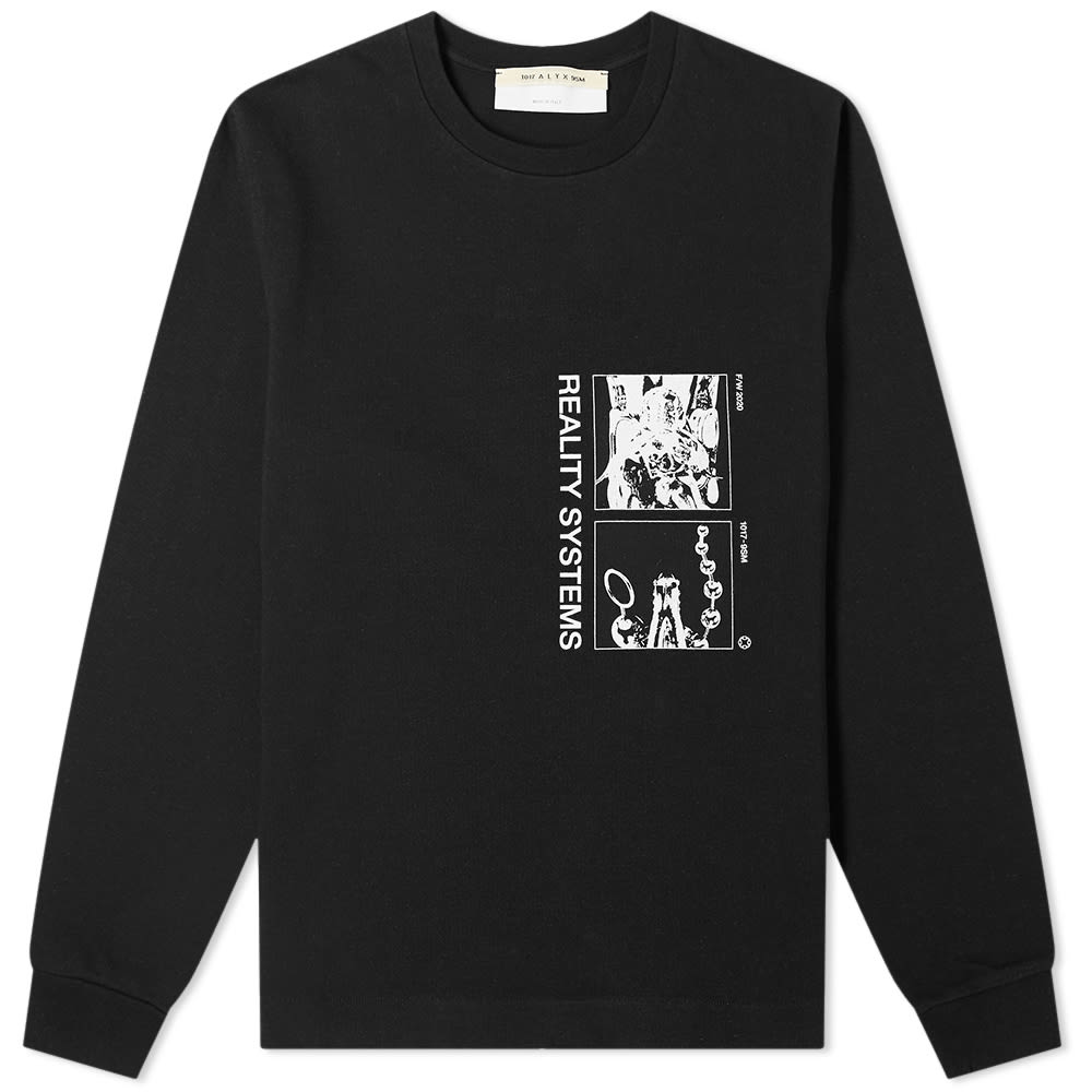 Alyx 1017 ALYX 9SM Long Sleeve Grid Reality Systems Printed Tee