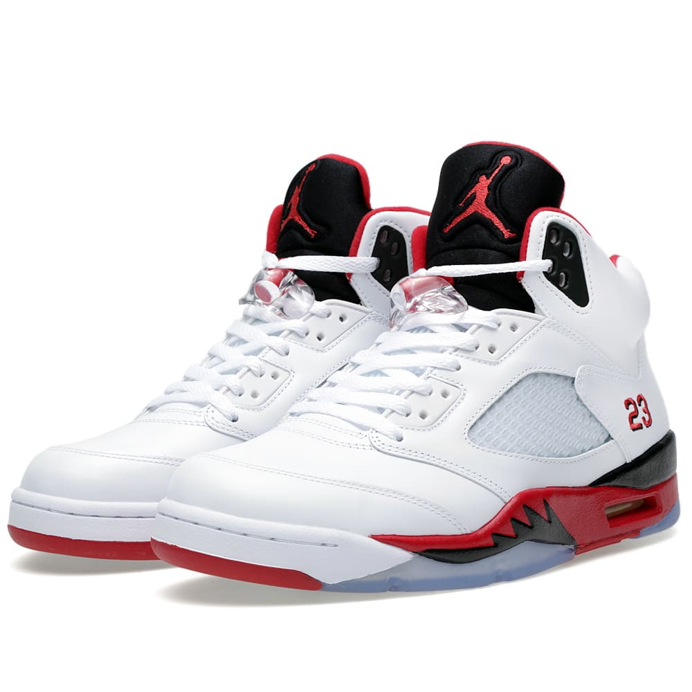Nike Air Jordan V Retro 'Fire Red' (White & Fire Red