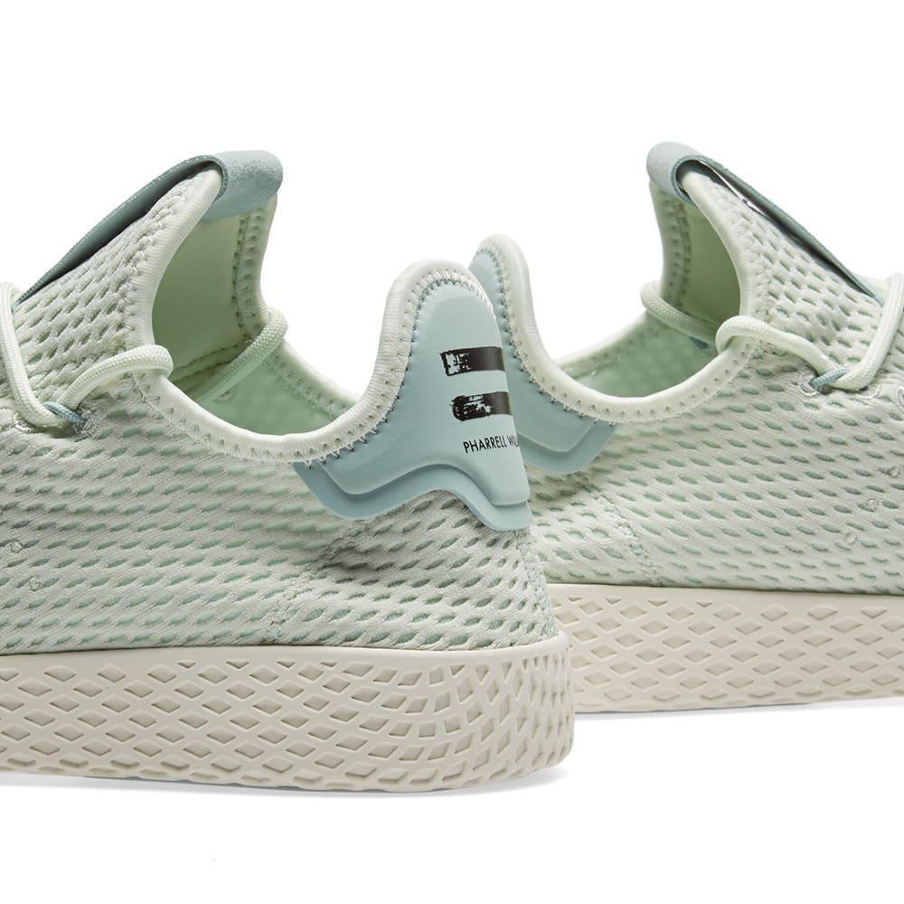 21bf6f9850d00 Adidas x Pharrell Williams Tennis HU Linen Green