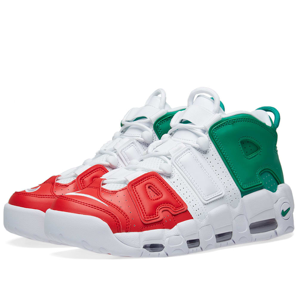 size 40 3f939 b9bce Nike Air More Uptempo  96 Milan QS Red, White   Green   END.