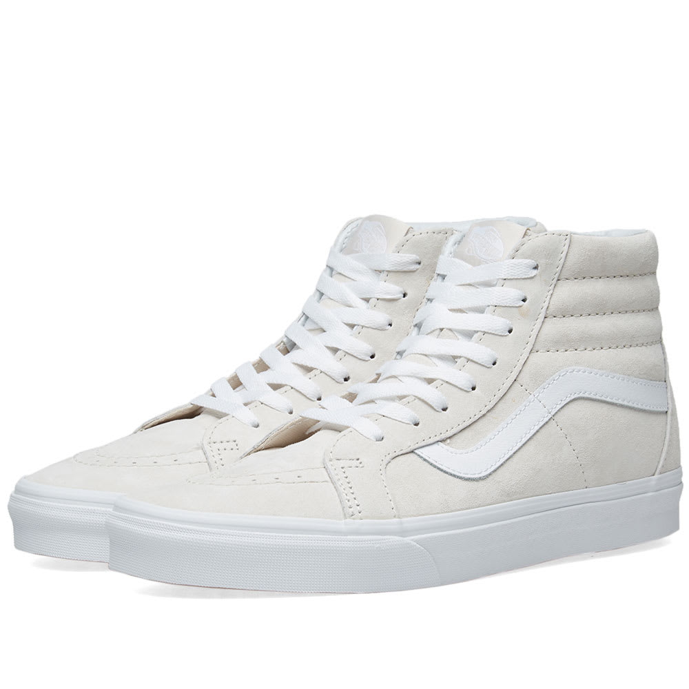 bc89b15dfc Vans SK8-Hi Reissue Pig Suede Moonbeam   True White