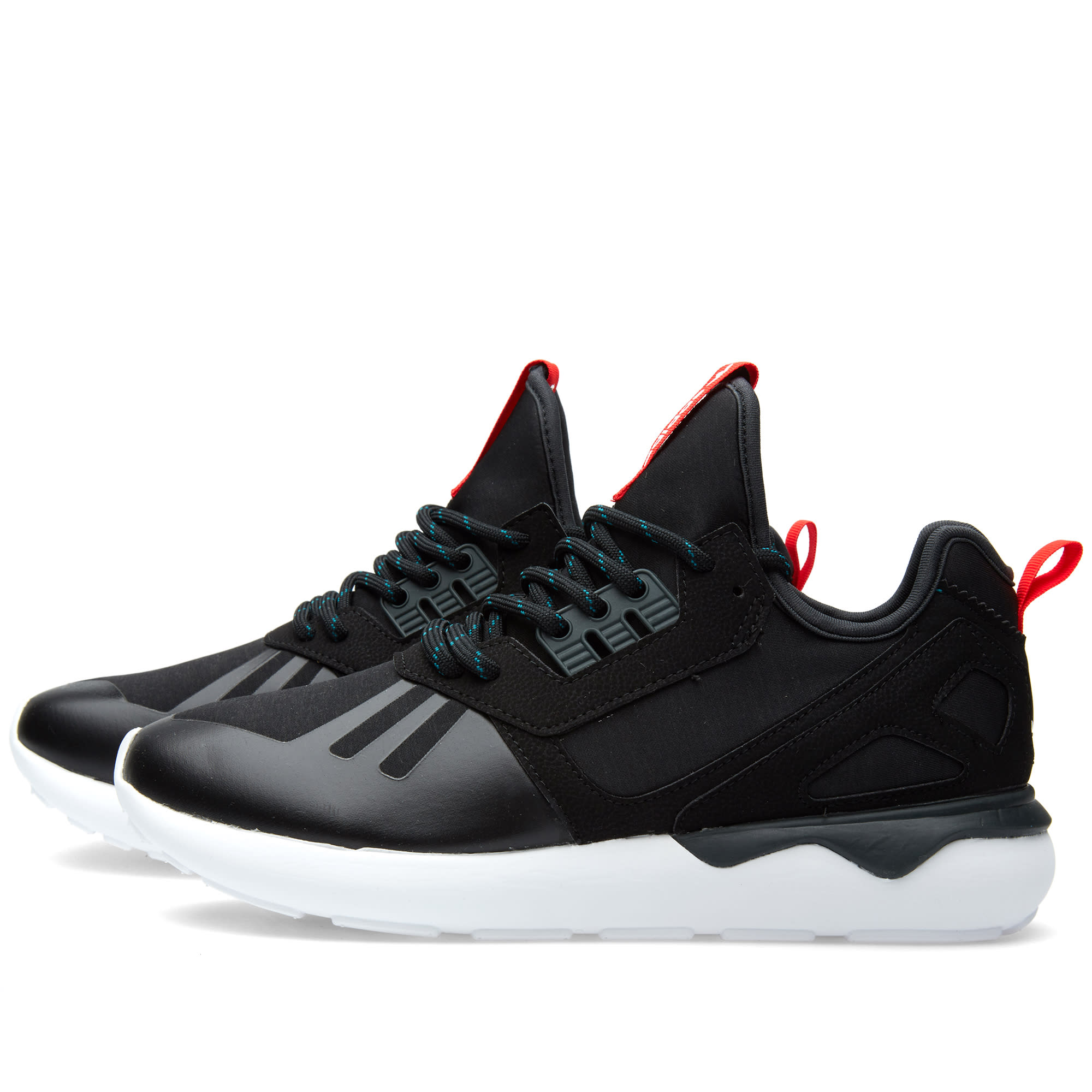 low priced c423f 41436 Adidas Tubular Runner Weave Core Black, Tomato   White   END.