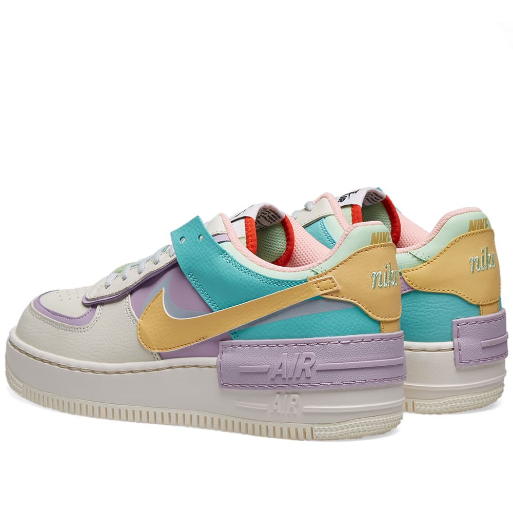 Nike Air Force 1 Shadow W Ivory Gold Tropical Twist End