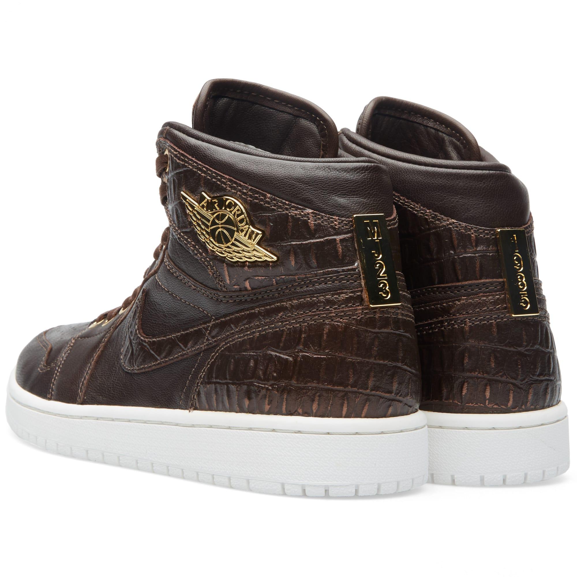 quality design 31356 43fef Nike Air Jordan 1 Pinnacle Baroque Brown   Metallic Gold   END.