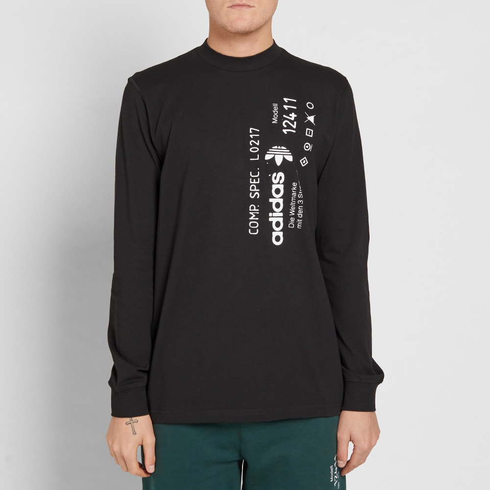 809e3bb06f7d Adidas Originals by Alexander Wang Long Sleeve Graphic Tee Black