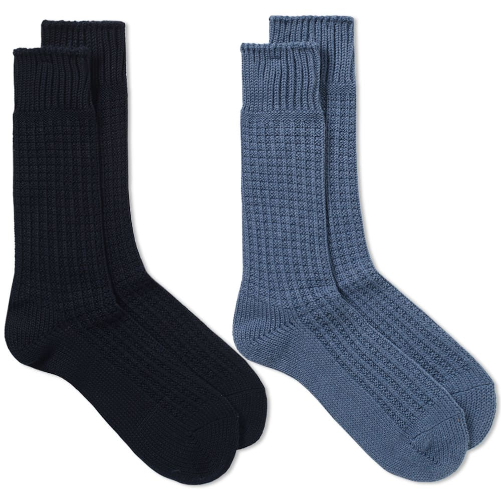 ANONYMOUS ISM Anonymous Ism Thermal Crew Sock - 2 Pack in Multi