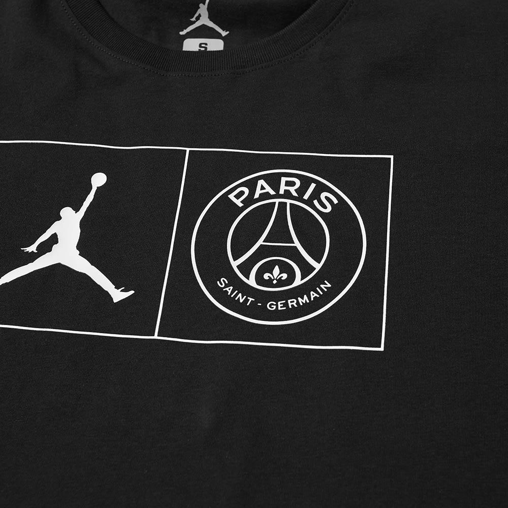 560022a84fe3 Jordan x Paris Saint-Germain Jock Tag Tee Black   White
